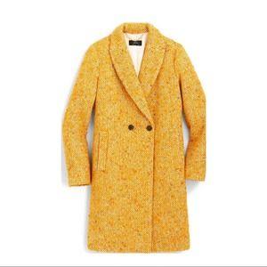 J. Crew Women's Winter Coat, Yellow, Daphne Tweed, Plus Size, Women's Size 18